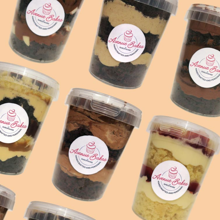 Cake Jars delivered anywhere in the UK, handmade by Avenue Bakes of Shropshire